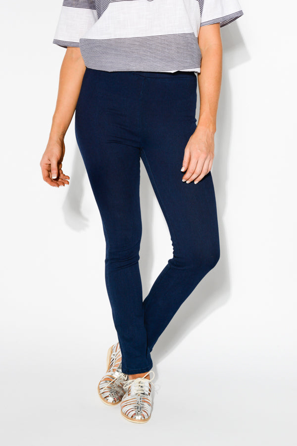 Indigo Stretch Cotton Jeans - Blue Bungalow