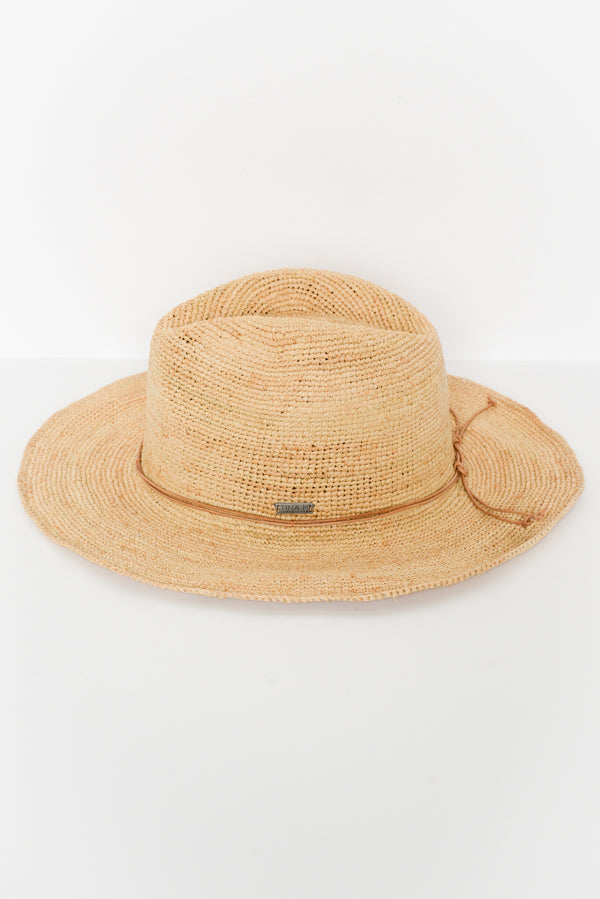 Natural Monaco Raffia Hat - Blue Bungalow