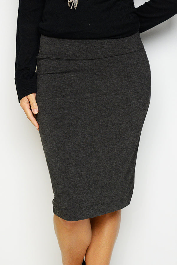 Whitney Charcoal Bamboo Tube Skirt - Blue Bungalow