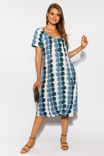 Leigh Blue Spot Linen Dress - Blue Bungalow