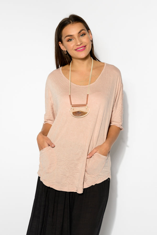 Blush Stella Cotton Top - Blue Bungalow