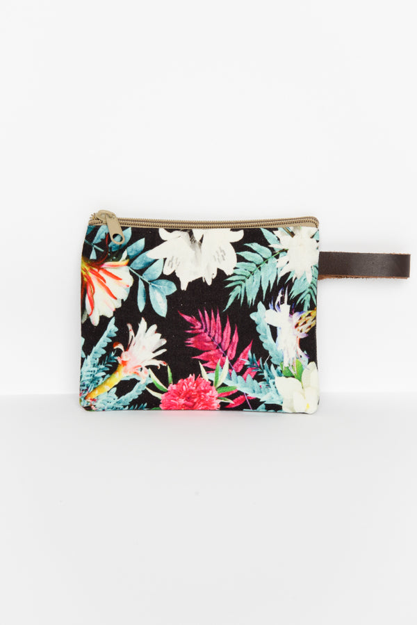 Tulsi Floral Coin Purse - Blue Bungalow