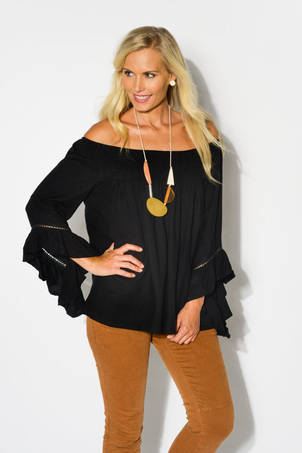 Black Amal Top - Blue Bungalow