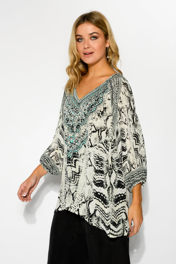 Tribal Silk Gypsy Top