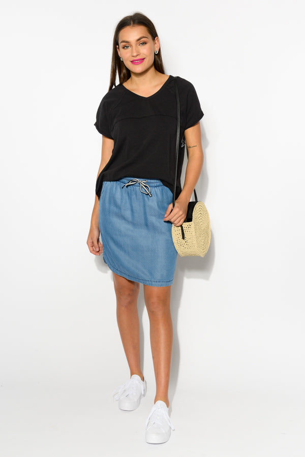 Broadway Chambray Skirt - Blue Bungalow