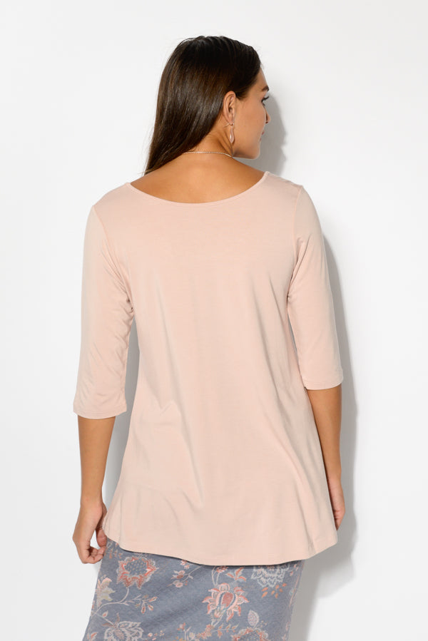 Aretha Blush Bamboo Top - Blue Bungalow