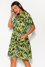 Mareeba Green Palm Cotton Dress - Blue Bungalow