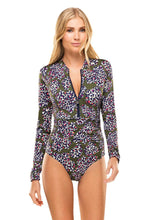 Emma Felino Sleeved One Piece - Blue Bungalow