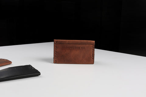 Leather Double Card Sleeve