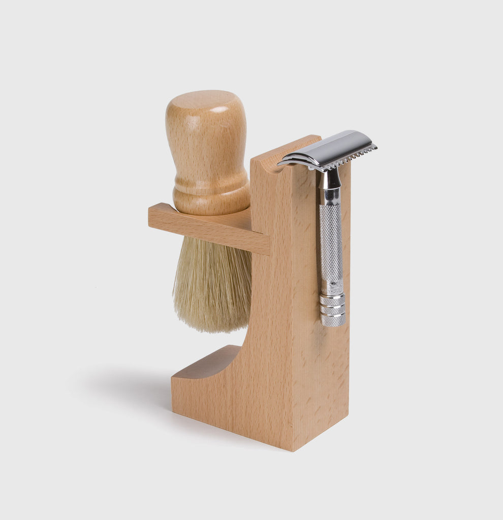 Hardwood Razor & Brush Stand