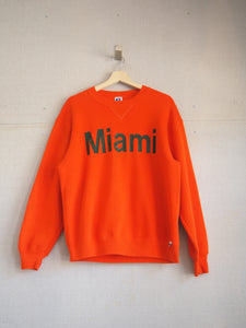 Vintage Miami Hurricanes Team Issued Crewneck