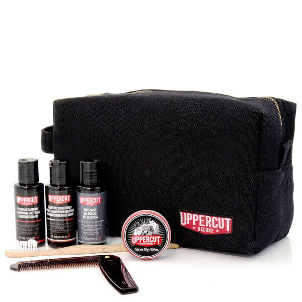 Uppercut Deluxe - Filled Black Wash Bag (Prodotti Inclusi) - mike-barbershop