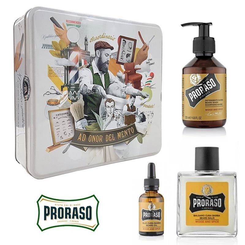 Proraso - Vintage Beard Kit Wood and Spice - mike-barbershop