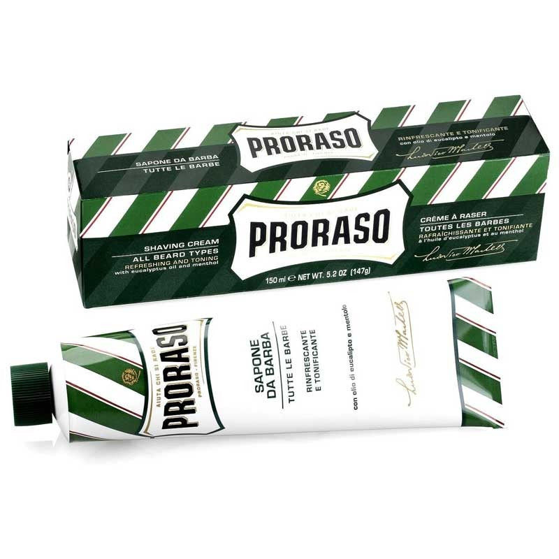 Proraso - Sapone da Barba Tubo Rinfrescante (Green) 150ml - mike-barbershop