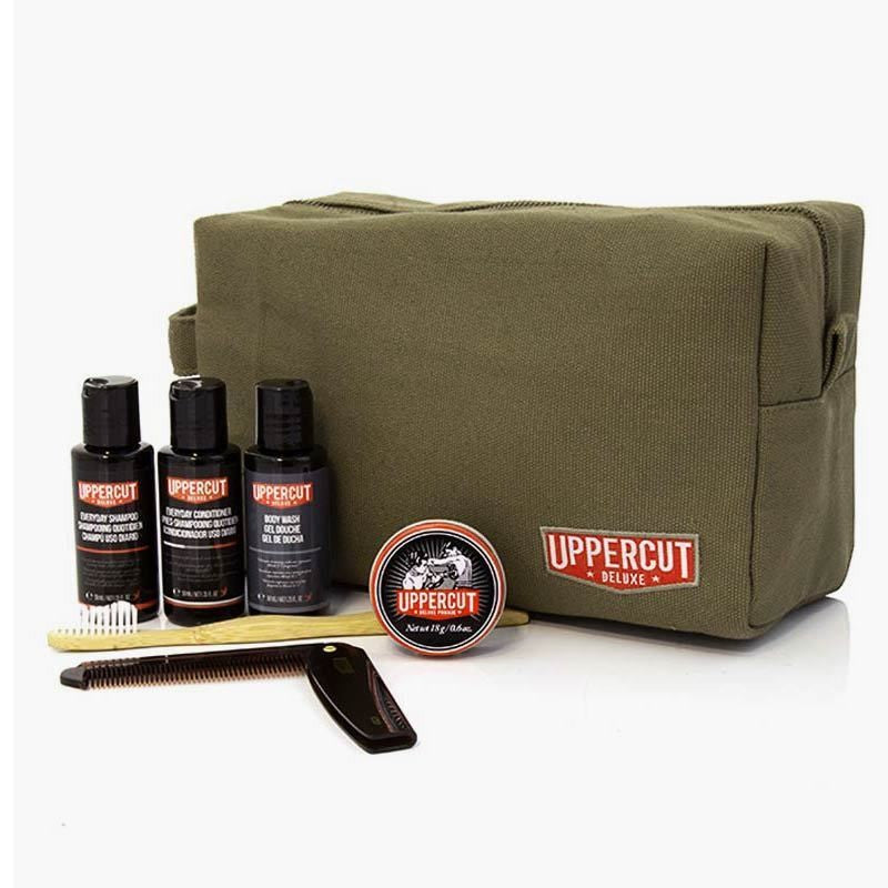 Uppercut Deluxe - Filled Green Wash Bag (Prodotti Inclusi) - mike-barbershop
