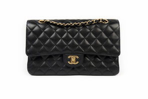 Chanel Black Caviar Classic Medium Double Flap Bag