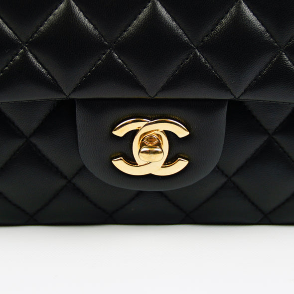Chanel Black Classic Medium Double Flap Bag