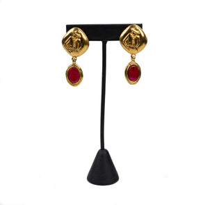 Chanel Vintage Coco Mademoiselle Gripoix Clip-On Earrings