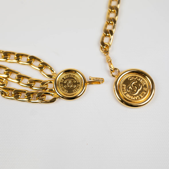 Chanel Vintage Medallion Chain-Link Belt