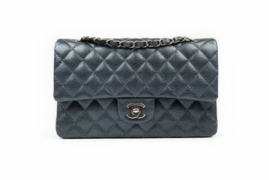 Chanel Grey Classic Medium Double Flap Bag