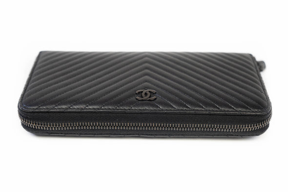 Chanel Zip Around Wallet