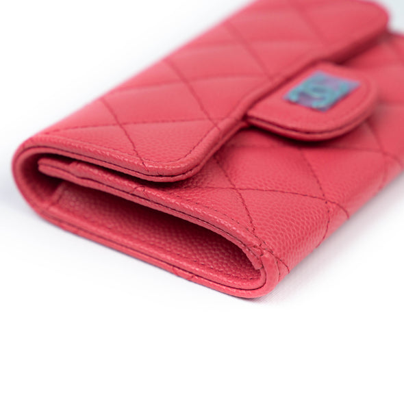 Chanel Pink Quilted CC Card Holder