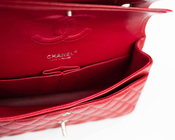 Chanel Red Caviar Classic Medium Double Flap Bag