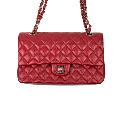 Chanel Red Classic Medium Double Flap Bag