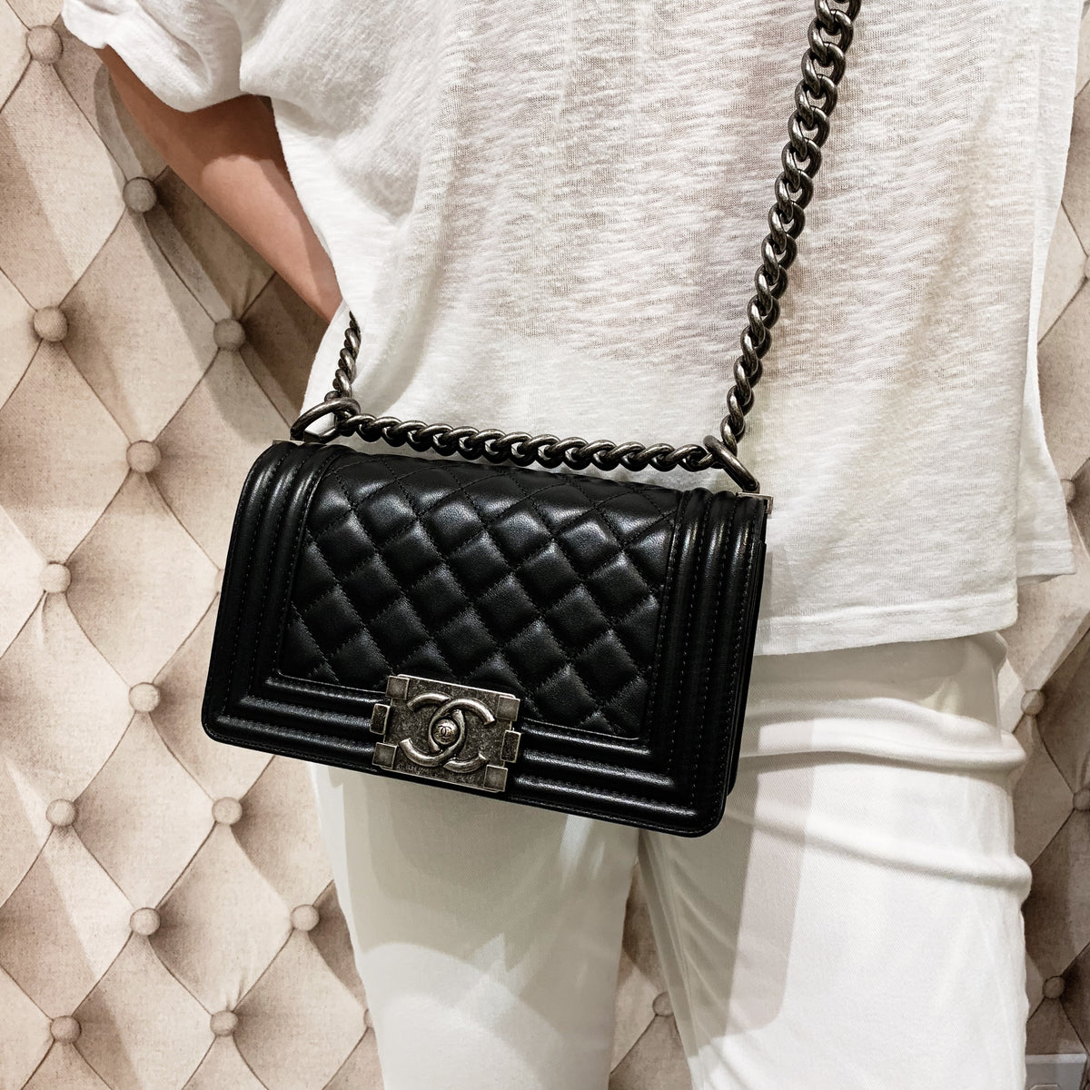 4ff23a3cb2c Chanel Small Boy Bag – Simply Chic Consignment