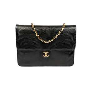 Chanel Vintage Lizard Skin Flap Bag
