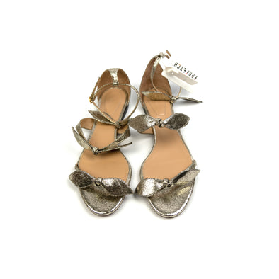 Chloe Metallic Bow Flat Sandals