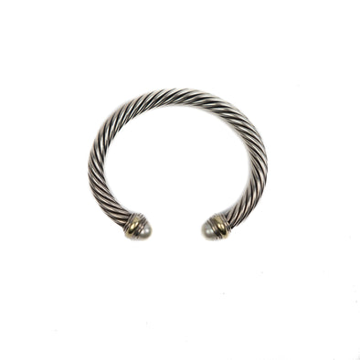 David Yurman Cable Classic Bracelet w/ Pearls