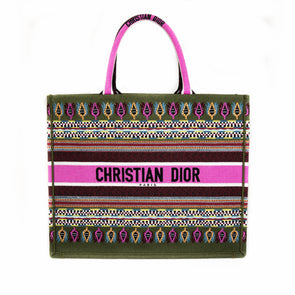 Christian Dior Embroidered Book Tote Bag
