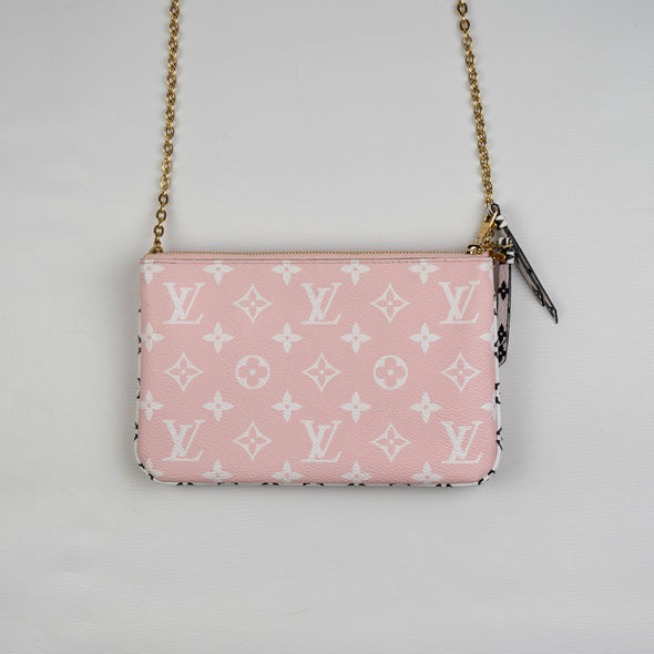 Louis Vuitton Monogram Giant Double Zip Pochette