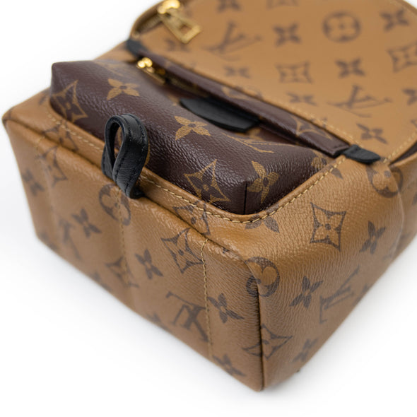 Louis Vuitton Monogram Reverse Palm Springs Mini Backpack
