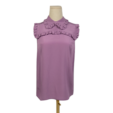 Miu Miu Silk Sleeveless Top