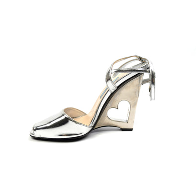 Prada Heart-Wedge Sandals