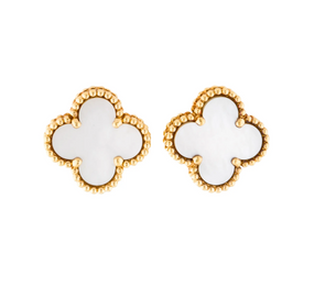 Van Cleef & Arpels Mother of Pearl Vintage Alhambra Earrings