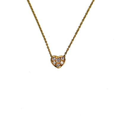 Tiffany & Co. Heart Diamond Pendant Necklace