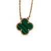 Van Cleef & Arpels Malachite Vintage Alhambra Necklace
