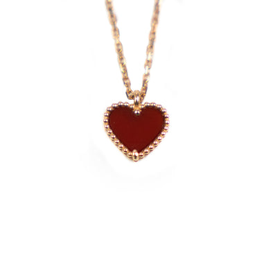 Van Cleef & Arpels Sweet Alhambra Heart Necklace