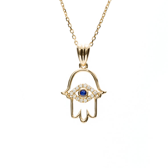 Hamsa Hand & Evil Eye Necklace