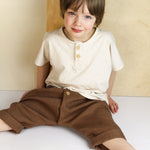 Leinen Hose/ red-brown