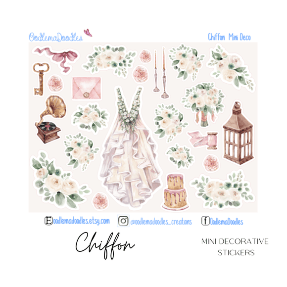 Chiffon Mini Decorative Stickers