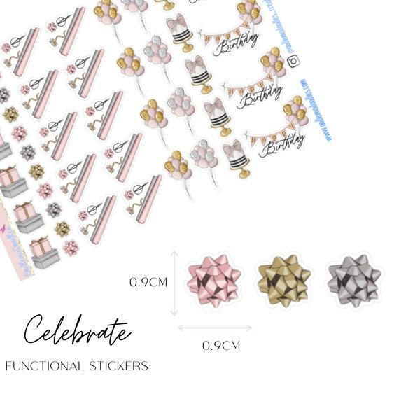 Celebration Functional Stickers