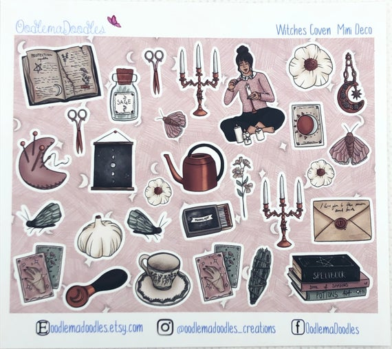 Witches Coven - Decorative Stickers