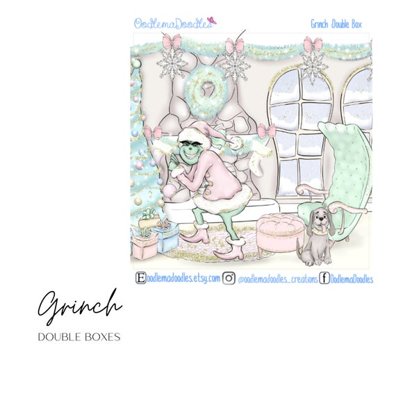 Grinch - Decorative Double Box Sticket