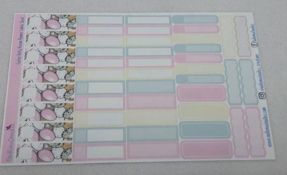 Easter Party Passion Planner Labels Sheet