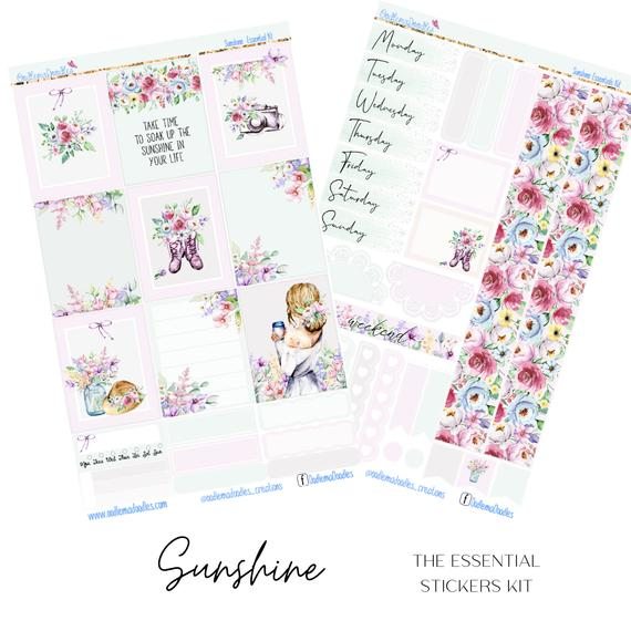 Sunshine Essential Planner Sticker Kit