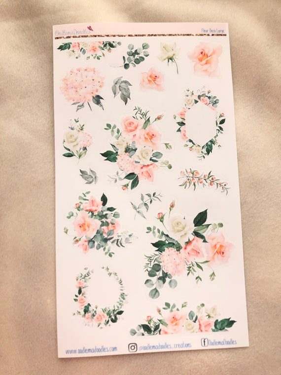 Fleur Large Decorative Stickers